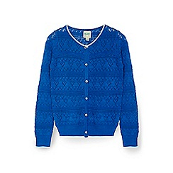Yumi Girl - Blue metallic stiched cardigan