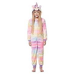 Yumi Girl - Multicoloured unicorn face onesie