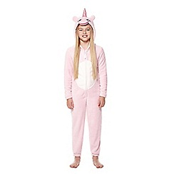 Yumi Girl - Pink 3d unicorn onesie all in one