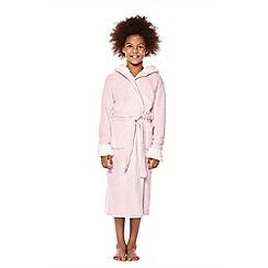 Yumi Girl - Pink 3d unicorn hooded robe