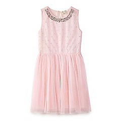 Yumi Girl - Pink sequin embellished mesh dress