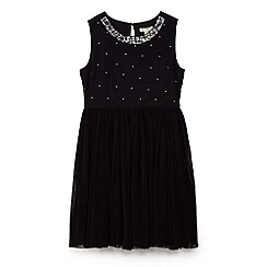 Yumi Girl - Black sequin embellished mesh dress