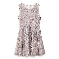 Yumi Girl - Grey embellished sequin lace dress