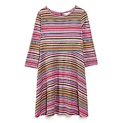 Yumi Girl - Multicoloured striped skater dress