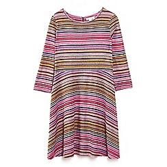 Yumi Girl - Multicoloured striped skater dress