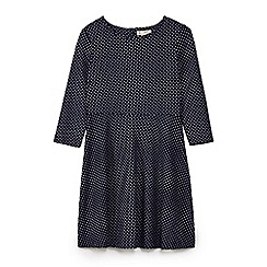 Yumi Girl - Blue polka dot print skater dress