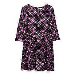 Yumi Girl - Purple check print skater dress