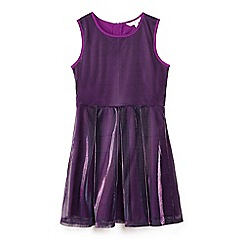 Yumi Girl - Purple metallic party skater dress
