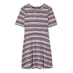 Yumi Girl - Multicoloured panel stripe jersey dress