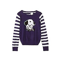 Yumi Girl - Blue striped Dalmatian jumper