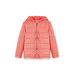 Yumi Girl - Red polka dot printed quilted jacket
