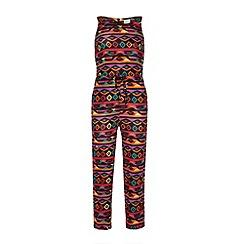 Yumi Girl - Multi-coloured tribal print jumpsuit.