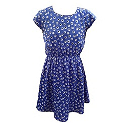 Yumi Girl - Daisy print peasant dress.