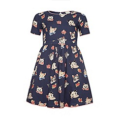 Yumi Girl - Cat face print dress.