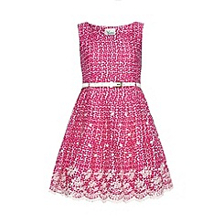 Yumi Girl - Floral print embroidered hem dress