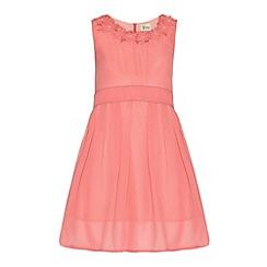 Yumi Girl - Flower neckline dress
