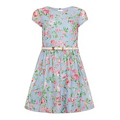 Yumi Girl - Floral printed lace dress