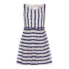 Yumi Girl - Striped lace dress.