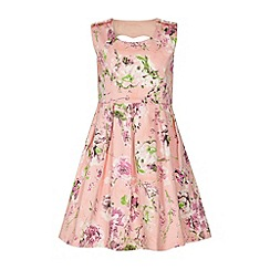 Yumi Girl - Textured floral print dress.