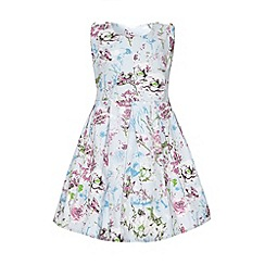 Yumi Girl - Textured floral print dress
