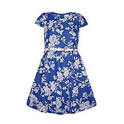 Yumi Girl - Girls floral jacquard dress