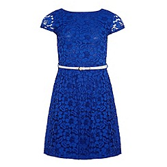 Yumi Girl - Lace dress with contrasting belt
