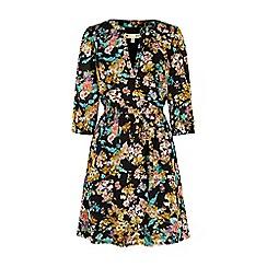 Yumi - Multicoloured floral print kaftan dress