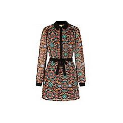 Yumi - Multicoloured  floral motif print shirt dress