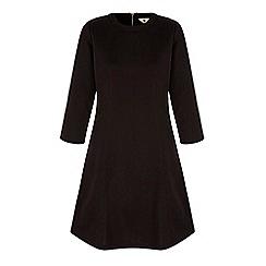Yumi - Black long sleeve skater dress