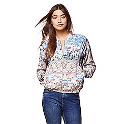 Yumi - Multicoloured floral bomber jacket