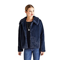 Yumi - Blue faux fur panel jacket