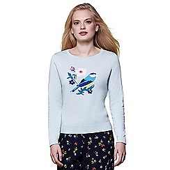 Yumi - Green Bird motif jumper