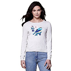 Yumi - Grey Bird motif jumper