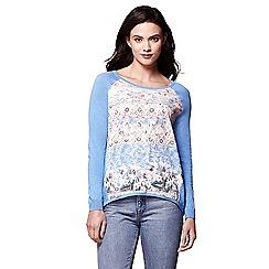 Yumi - Multicoloured floral print jumper