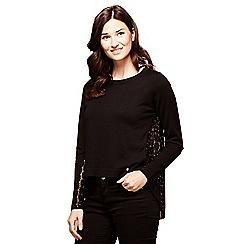 Yumi - Black lace jumper