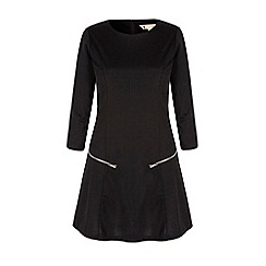 Yumi - Black long sleeve tunic dress