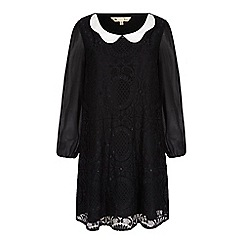 Yumi - Black collar lace tunic dress