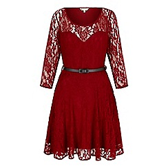 Yumi - Red Lace Sweetheart Party Dress
