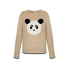 Yumi - Cream panda print jumper