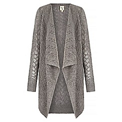 Yumi - Blue Pointelle Waterfall Cardigan