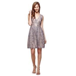 Yumi Grey Lace Party Dress