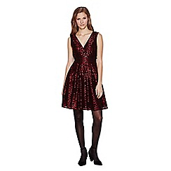 Yumi - red  Sequin Lace Party Dress