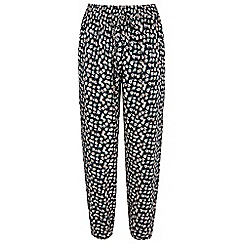Yumi - Blue Ditsy Vintage Floral Print Trousers