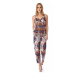 Yumi - Multicoloured  Tribal Print Jumpsuit