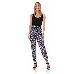 Yumi - Multicoloured  Prairie Floral Print Trousers
