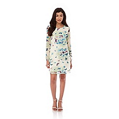 Yumi - Multicoloured Butterfly Print Tunic Dress
