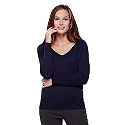 Yumi - Blue Knit Jumper With Lurex