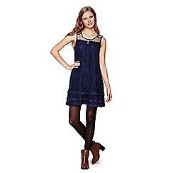 Yumi - Blue Lace Sleeveless Dress