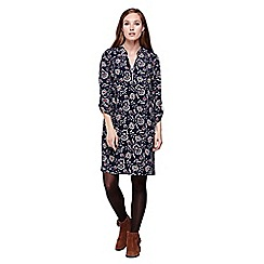 Yumi - blue Flower Print Tunic Dress