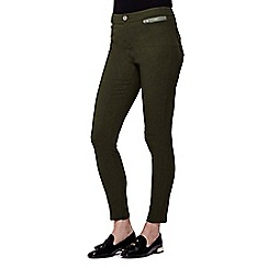 Yumi - Green Skinny Zipped Pocket Jeans